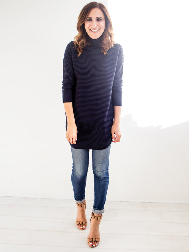 MAKE MY DAY NAVY KNIT