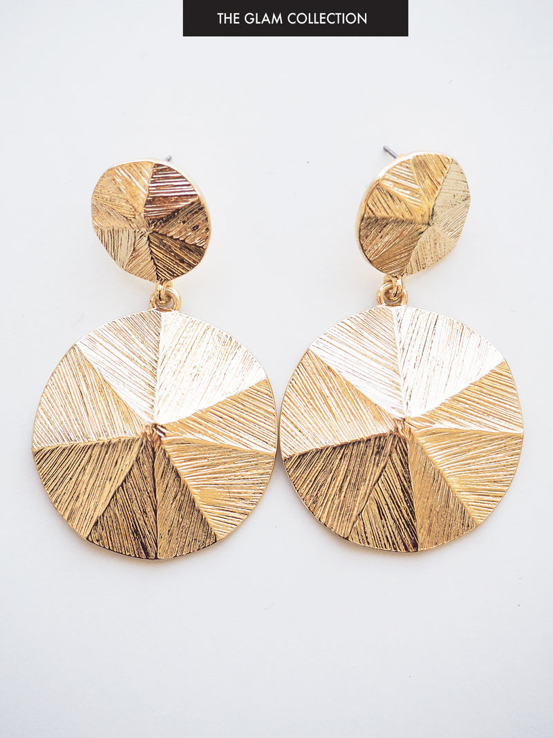 MIDNIGHT DANCER GOLD EARRINGS