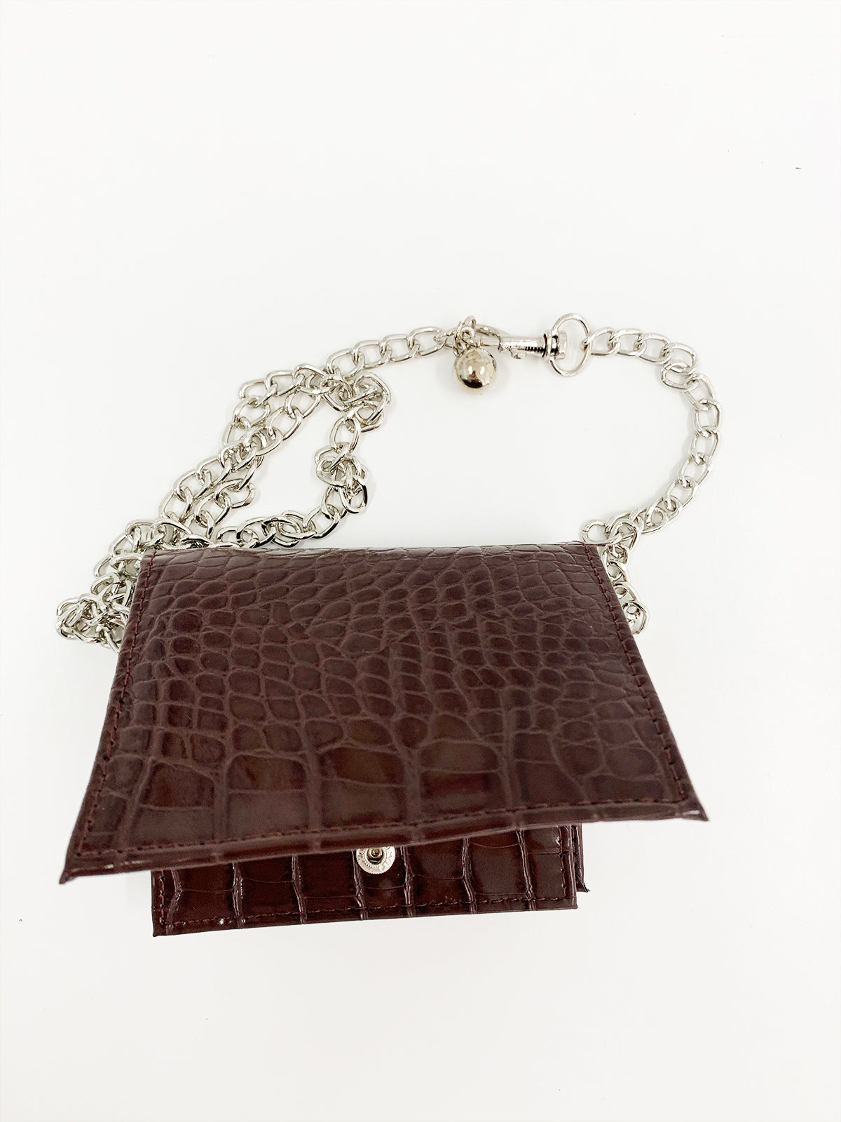 A POCKET OF LOVE BELT BAG - CHOCOLATE