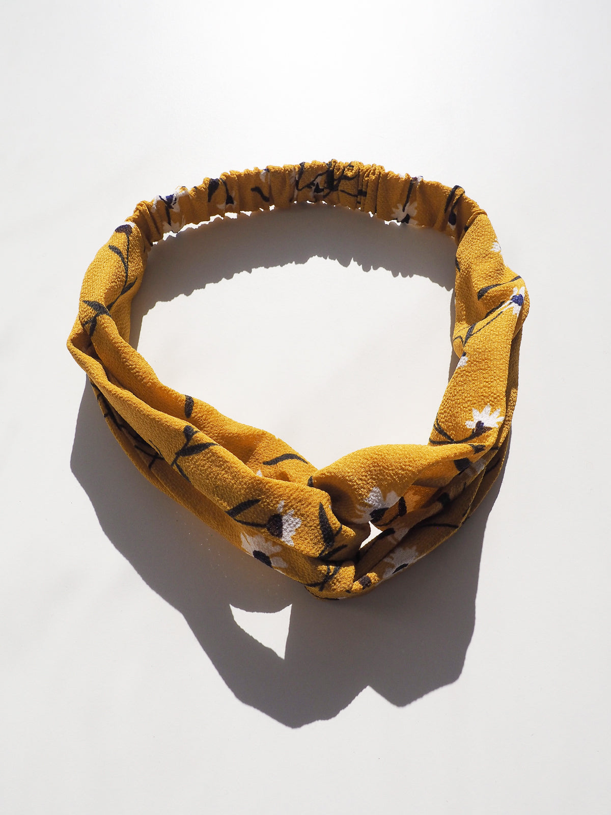 EVERYDAY GLAMOUR HEADBAND - MUSTARD FLORAL