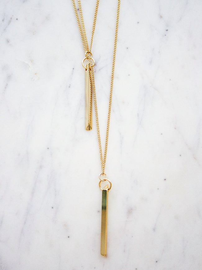 NIGHT FEVER LUXE GOLD TWIN NECKLACE