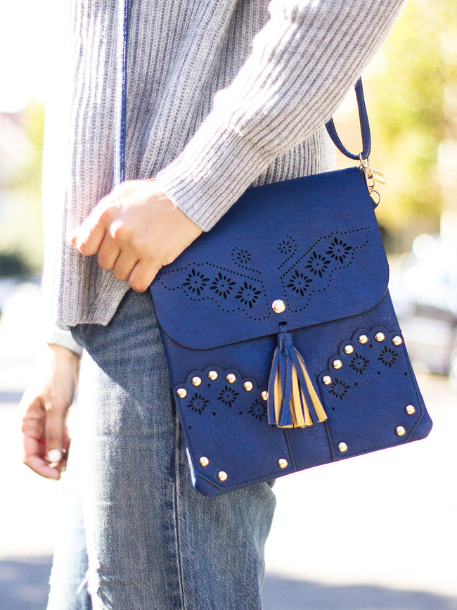 PALM SPRINGS BOHO BAG - COBALT BLUE