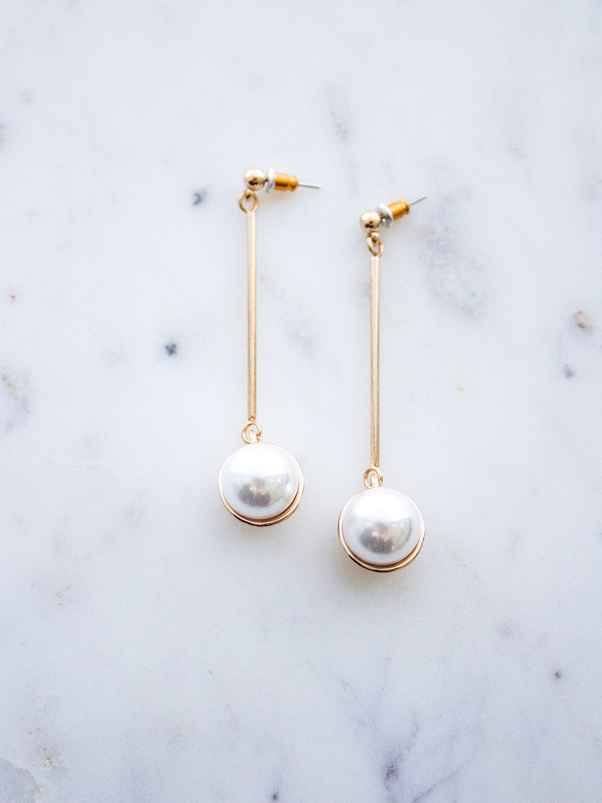 STAY WITH ME GOLD + PEARL STATEMENT EARRINGS