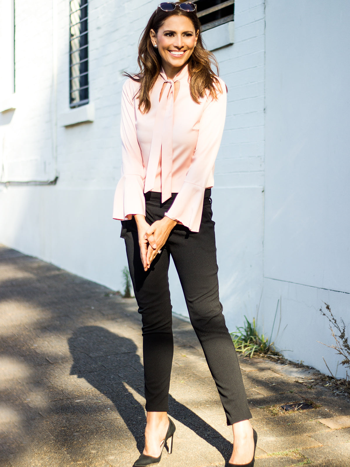 AT FIRST GLANCE BLUSH BLOUSE