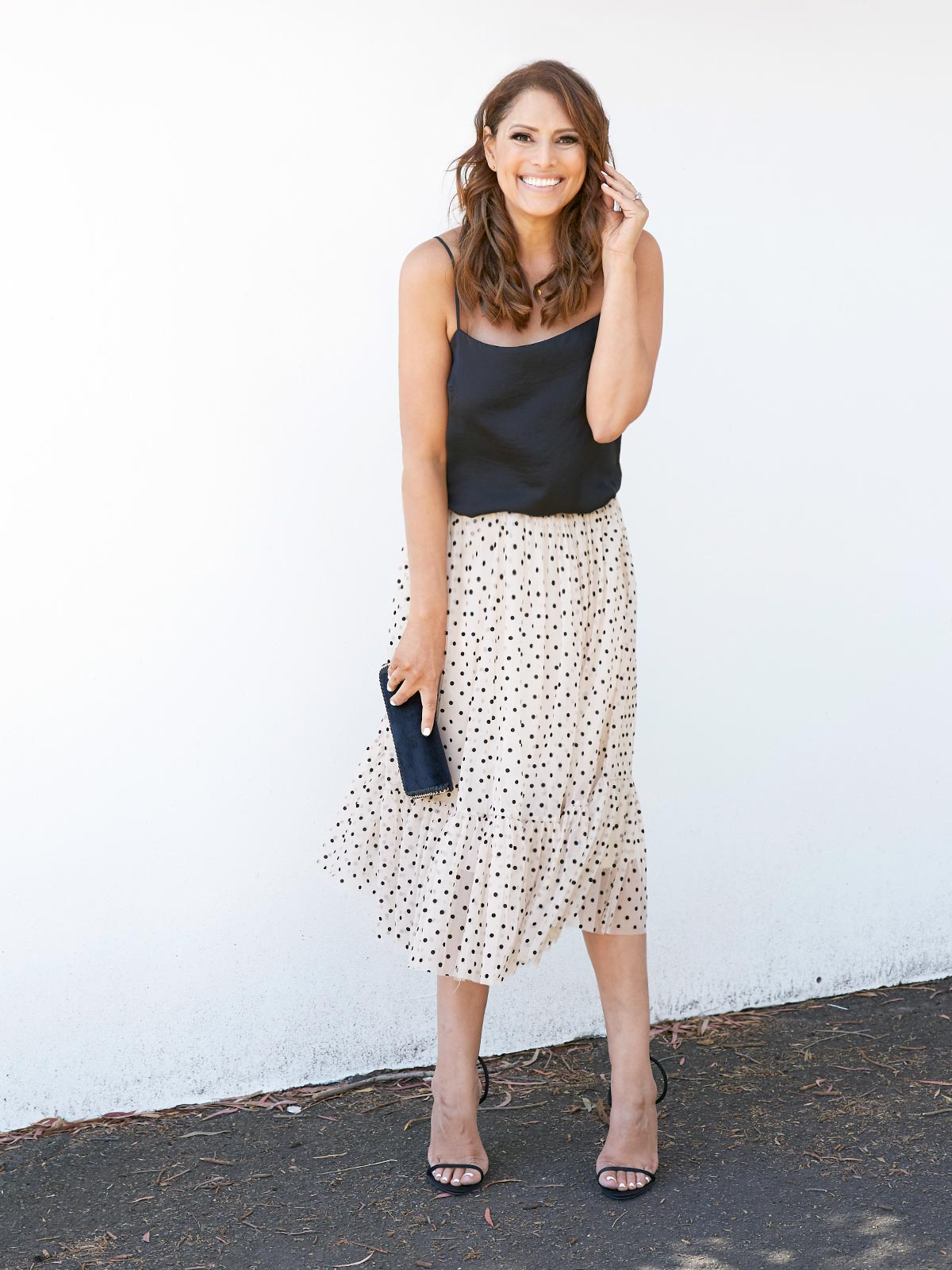 YOU'VE GOT THE LOVE POLKA DOT SKIRT