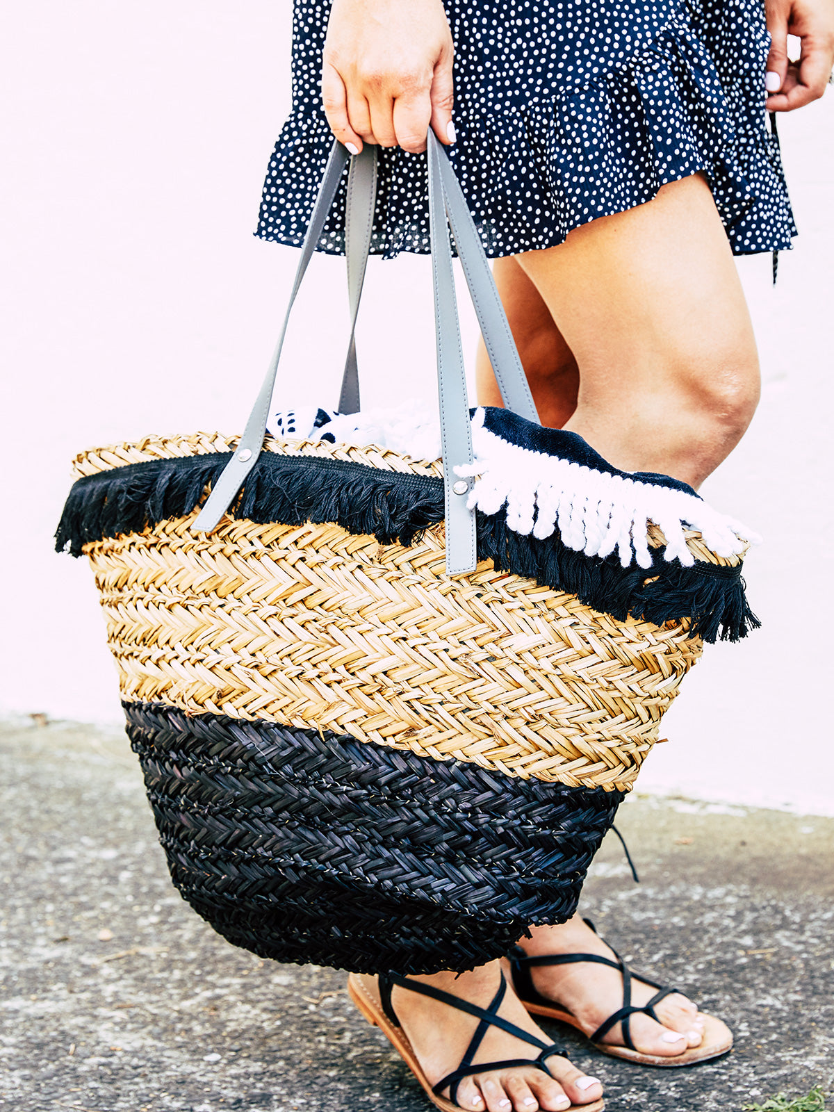 SUMMER LOVIN' WOVEN BASKET BAG