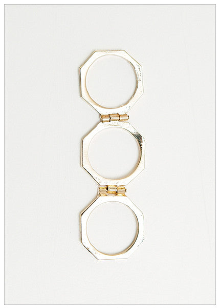ELLE GOLD STACK RING
