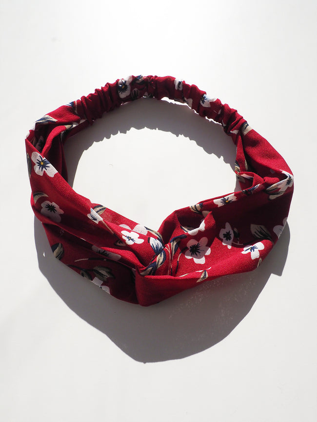 EVERYDAY GLAMOUR HEADBAND - RED FLORAL