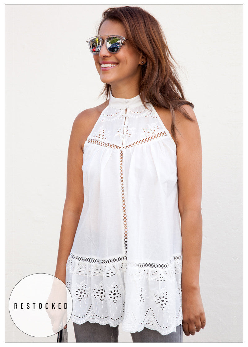 LOVE AT FIRST SIGHT BRODERIE TUNIC