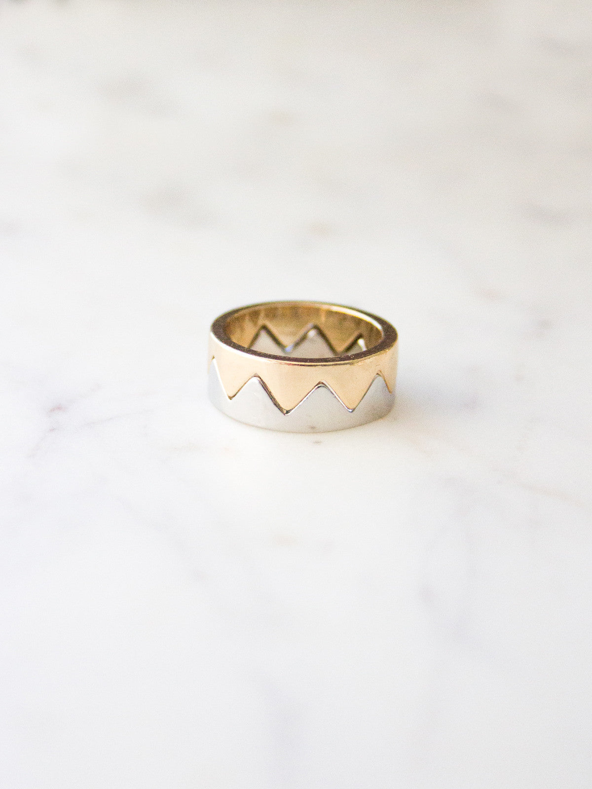 TELL ME YOU WANT ME 2 IN 1 GOLD & SILVER RING