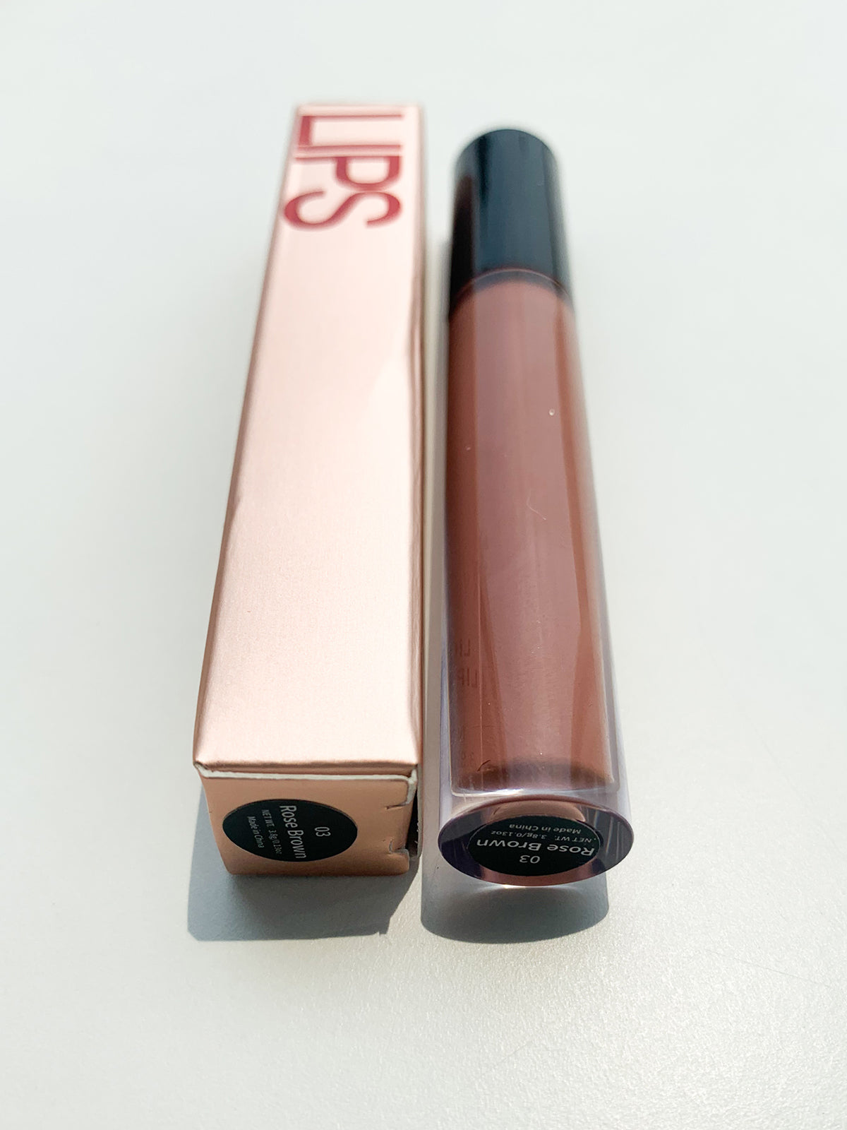 KISS ME VEGAN LIP GLOSS - BURNT ROSE
