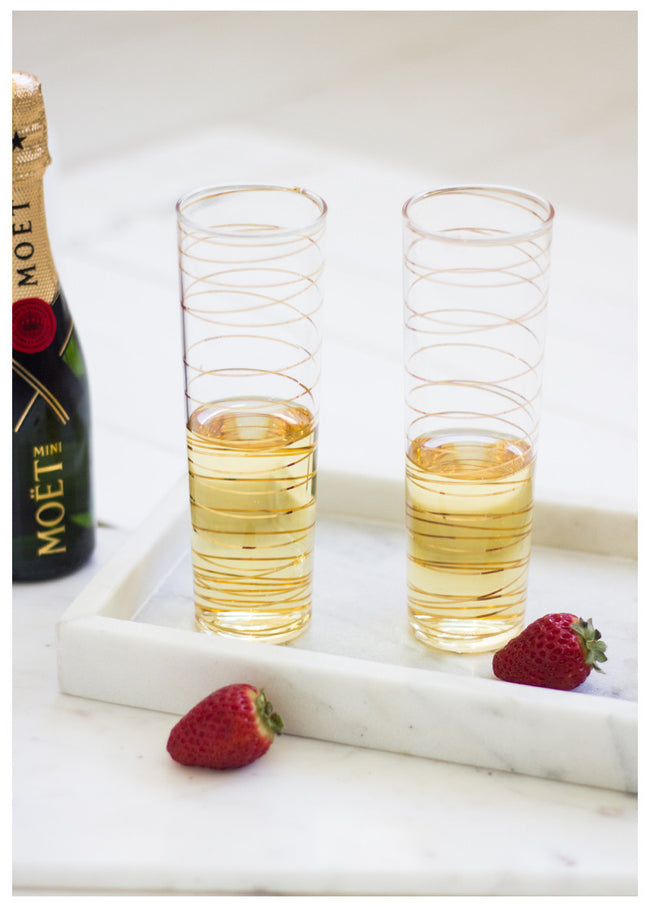 ROXANNE LUXE CHAMPAGNE FLUTES (SET OF 2)