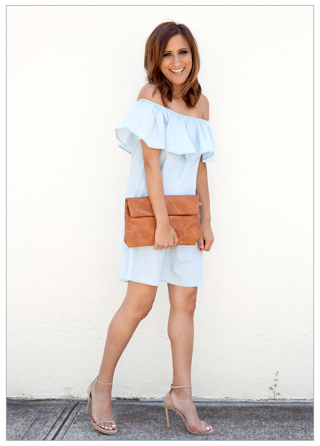 SAIL AWAY WITH ME DENIM DRESS