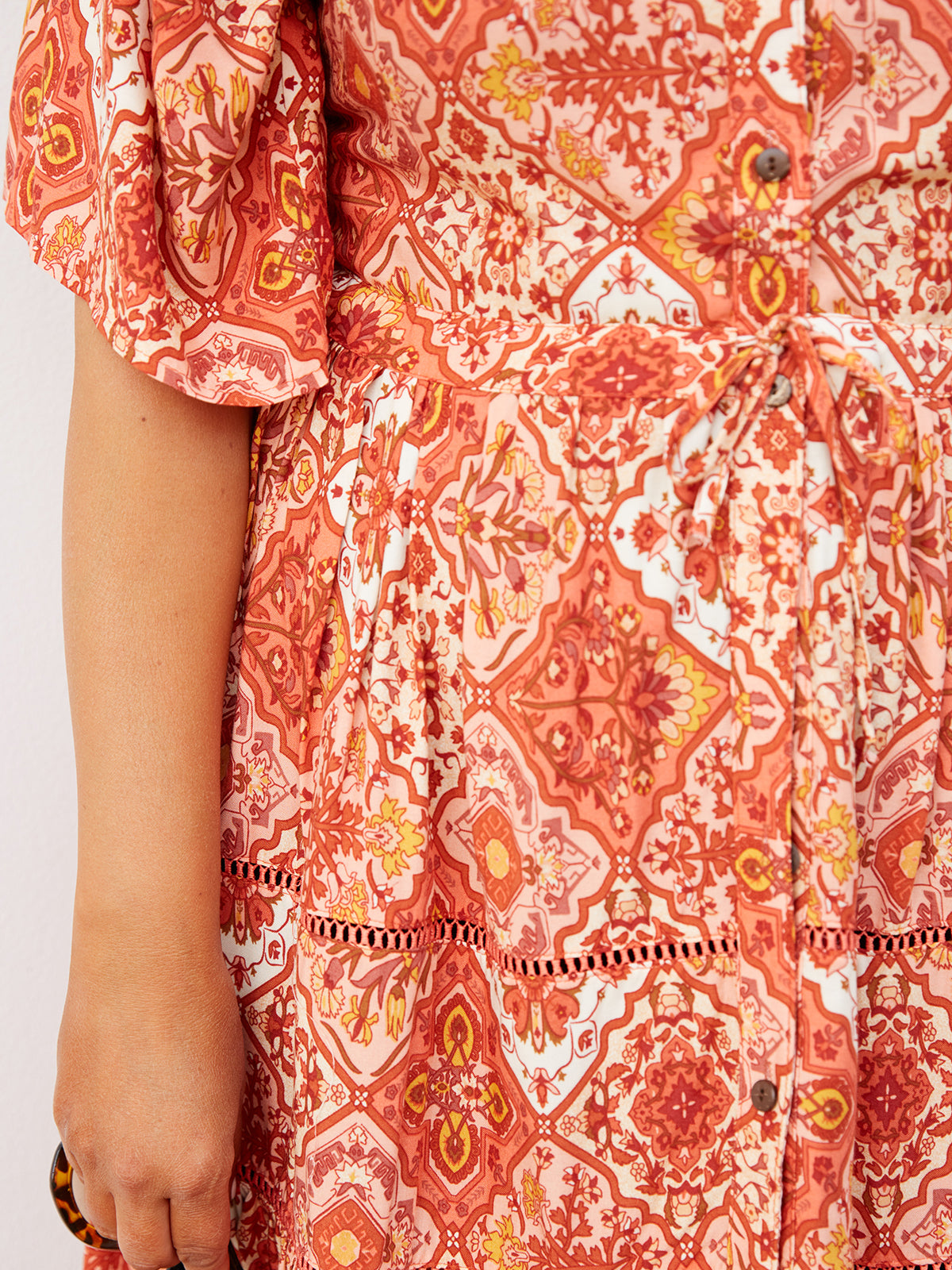 SHADES OF PARADISE PRINTED DRESS