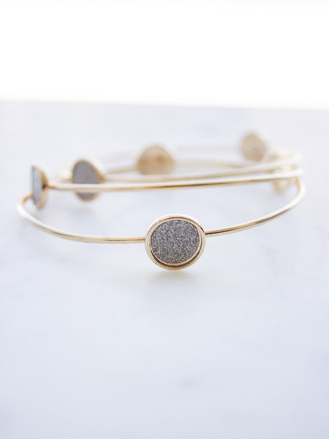 SHINE BRIGHT GOLD + SILVER BANGLE