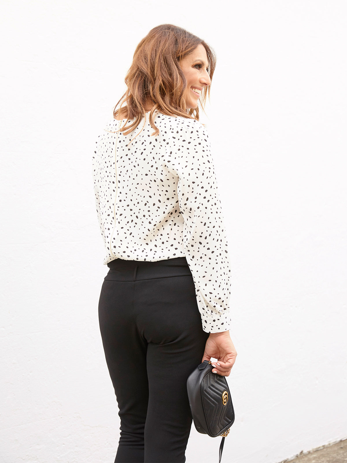 YOUR DESTINY AWAITS BLOUSE IN WHITE & BLACK