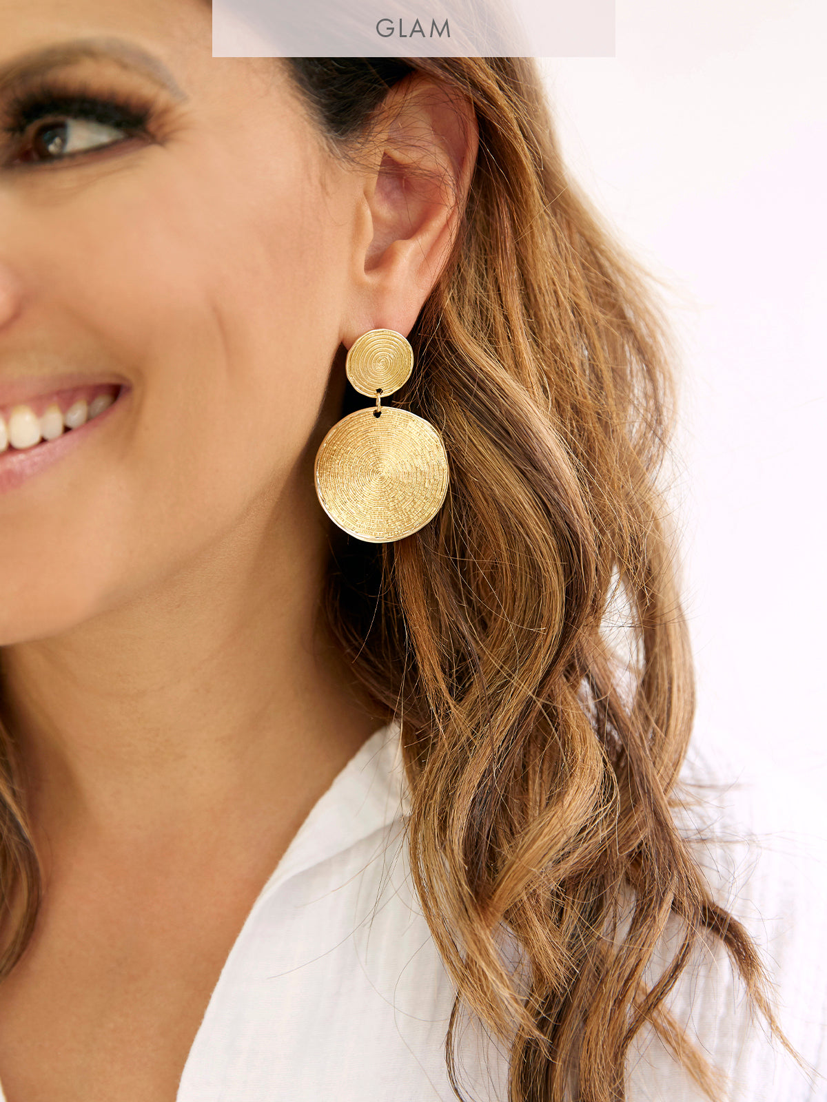 BEAUTIFUL STRANGER GOLD EARRINGS