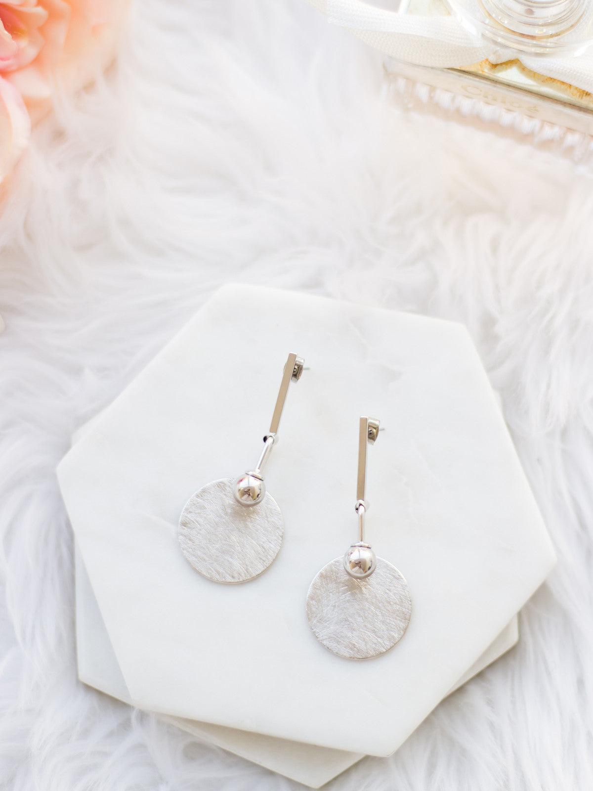 YOU'RE THE ONE LUXE SILVER EARRINGS