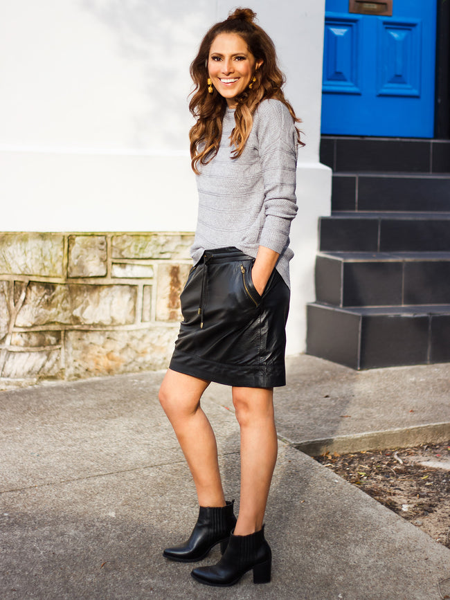 SLAY ALL DAY LEATHER SKIRT