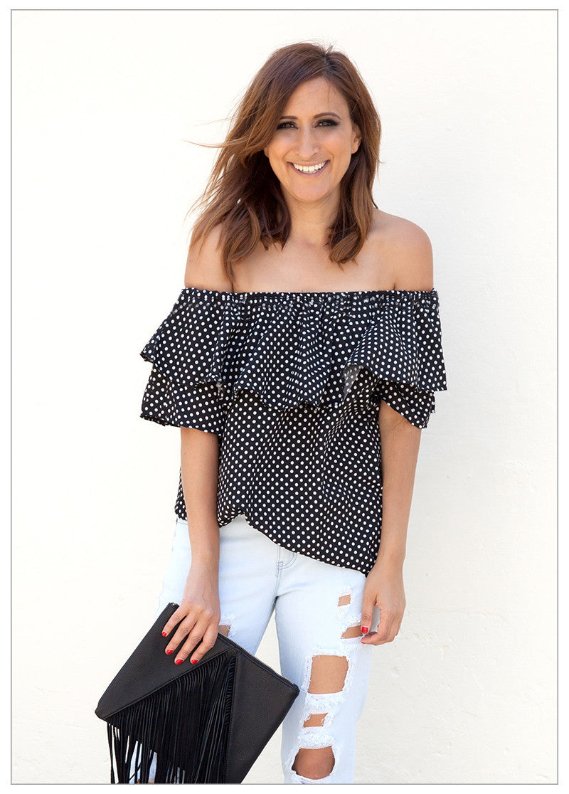 SMOOTH SAILING RUFFLE TOP