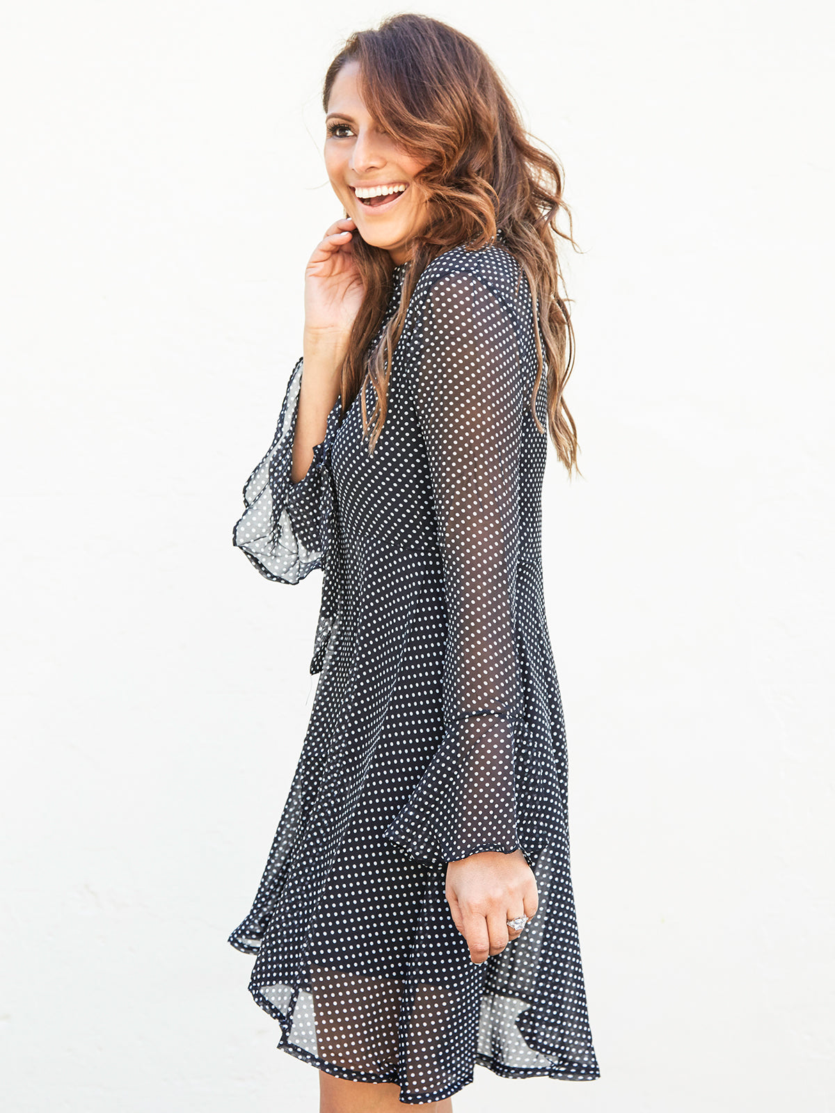 STEAL THE SPOTLIGHT SHEER DRESS