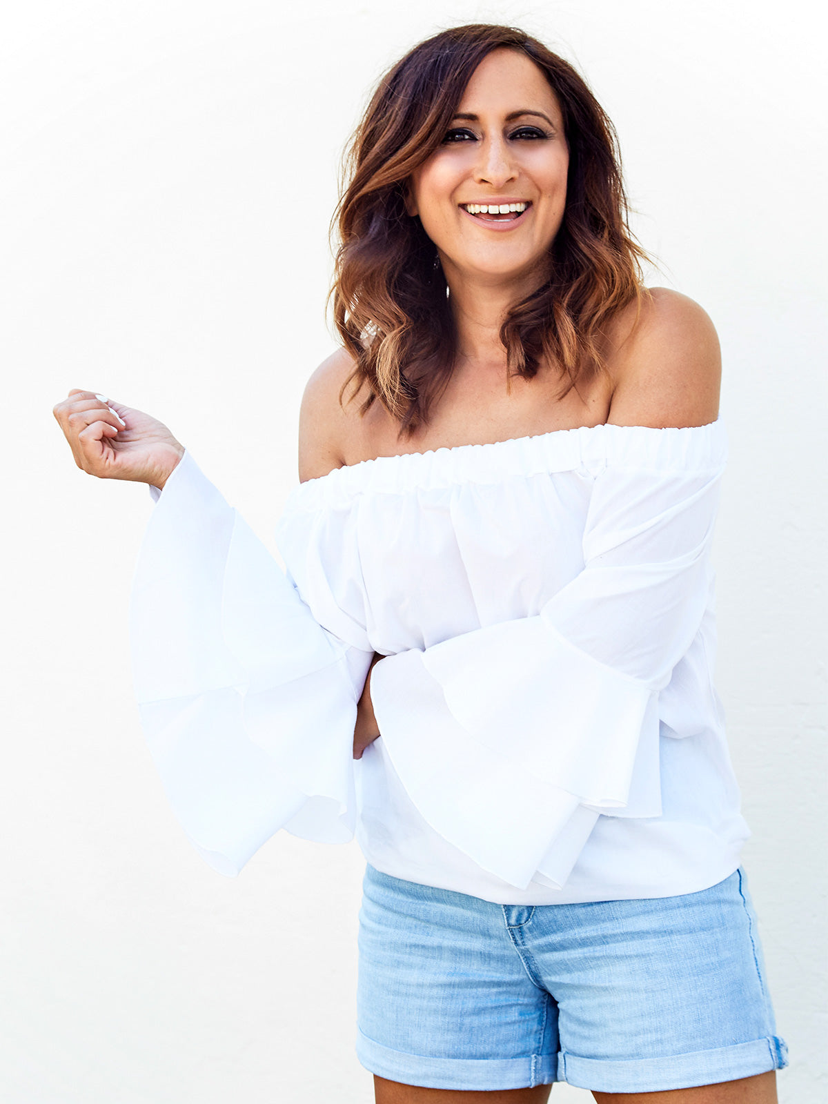 TAKE ME AWAY WHITE OFF THE SHOULDER TOP