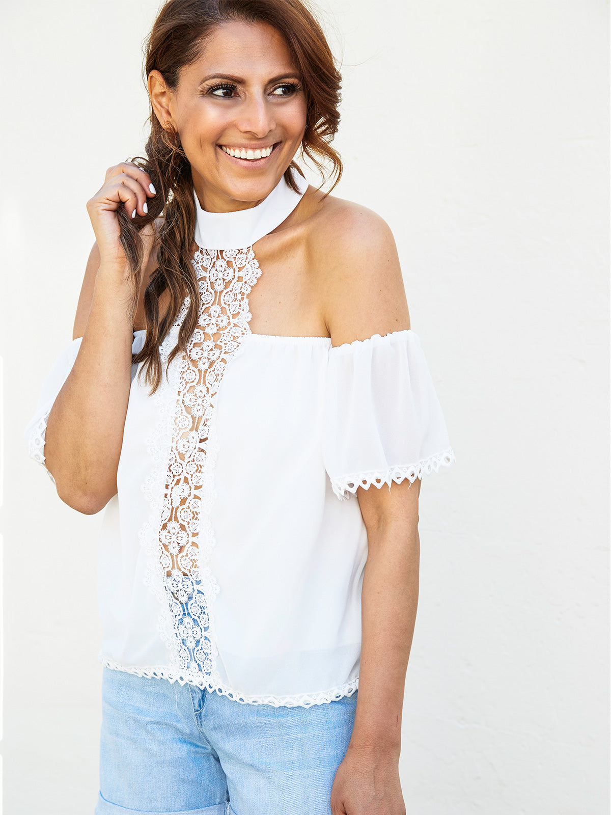 JUST THE WAY YOU ARE EMBROIDERED TOP