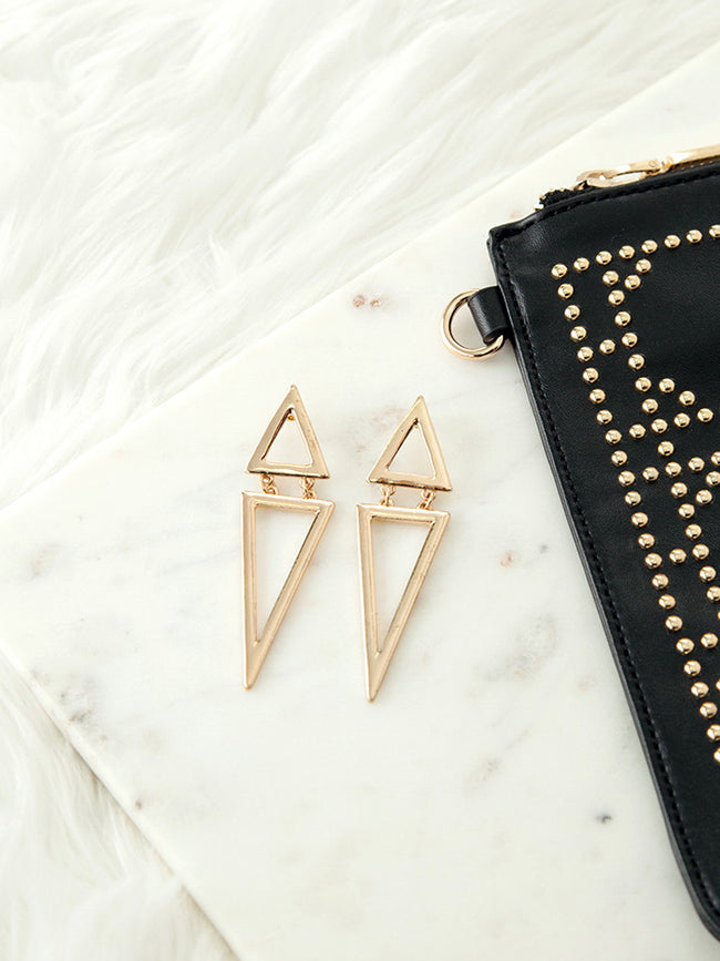 UP ALL NIGHT GOLD EARRINGS