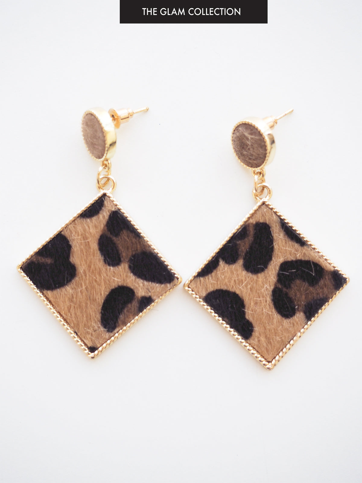 WANDERING FOLK EARRINGS IN GOLD & LEOPARD