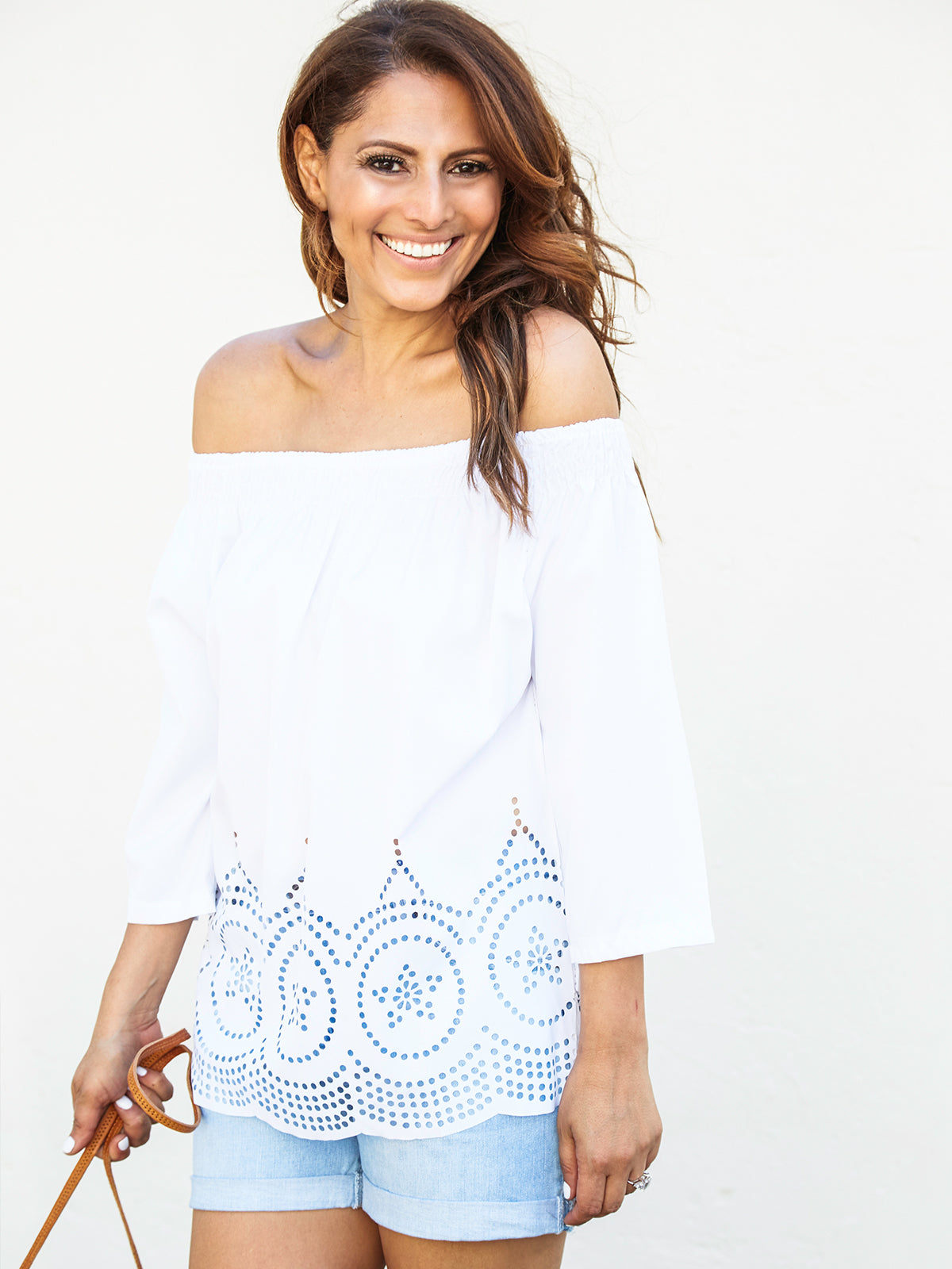 STAR STRUCK WHITE LASER CUT TOP