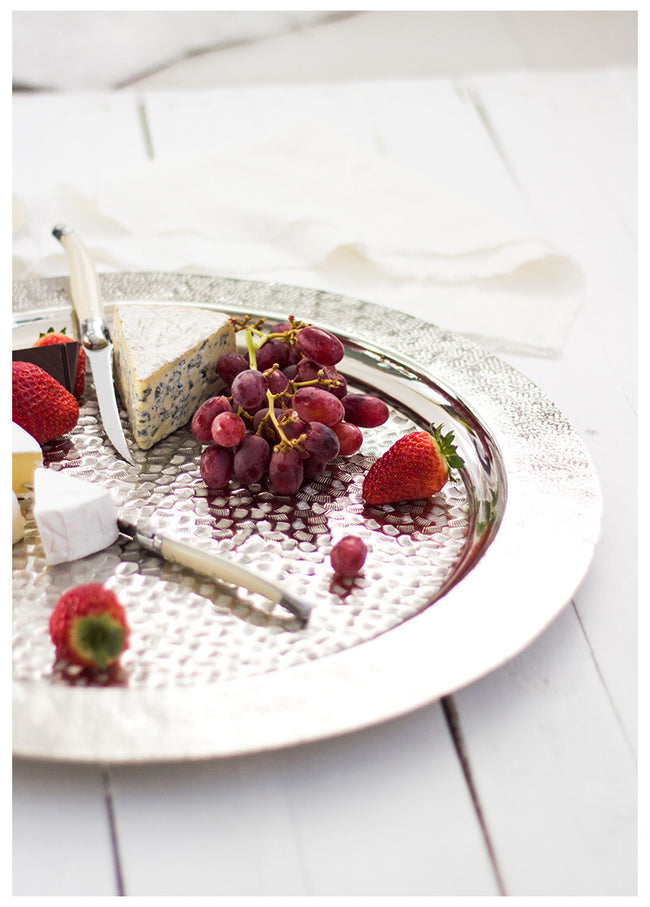 WINE & DINE LUXE SILVER TRAY
