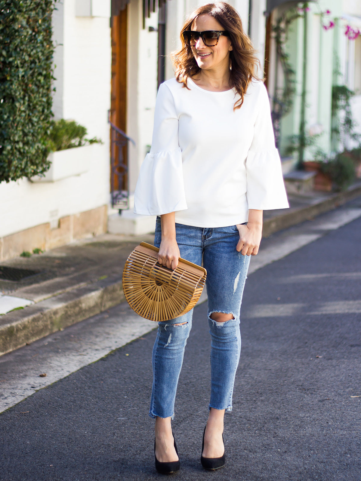 WORKS LIKE A CHARM BELL SLEEVE TOP