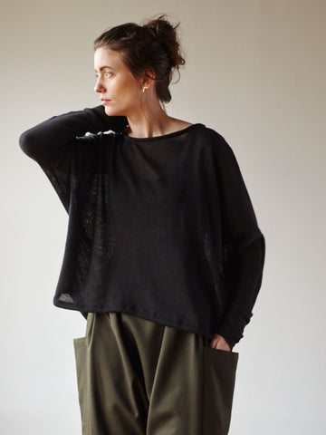 Understory Sweater No.1 - Sheer Black