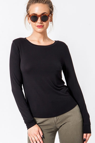 Essential Babe Long Sleeve Tee- 3 Colors!