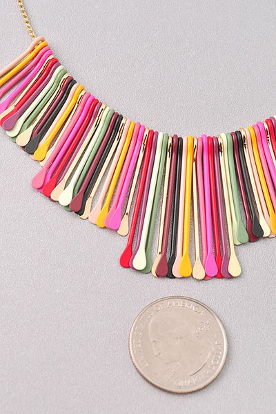 Boho Sunset Multi Colored Bar Necklace