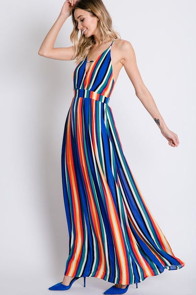 Hot For You Bold Stripe Maxi Dress