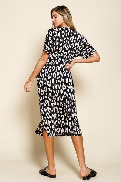 RESTOCKED!!! Animal Print Pocket Knit Dress
