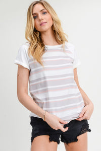 Subtle Stripes Cozy Knit Tee