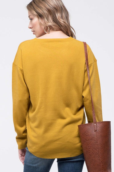 Essential Babe Crew Neck Zipper Detail Sweater- 3 Colors!
