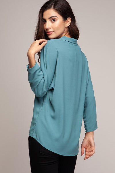 The Megan Surplice Blouse-3 Colors!