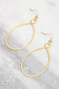 Well Loved Hammered Oval Twist Hoop Earrings