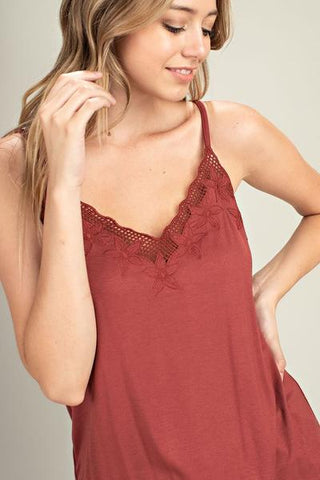 The Jennifer Lace Knit Camisole- 3 Colors!