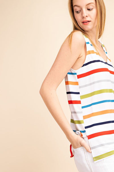 Life of the Party Striped Tank Top