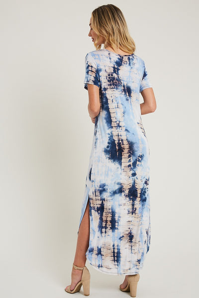 Crystal Cove Tie Dye Maxi in Navy
