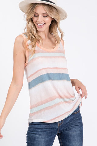 Adobe Watercolor Sunset Knit Tank Top