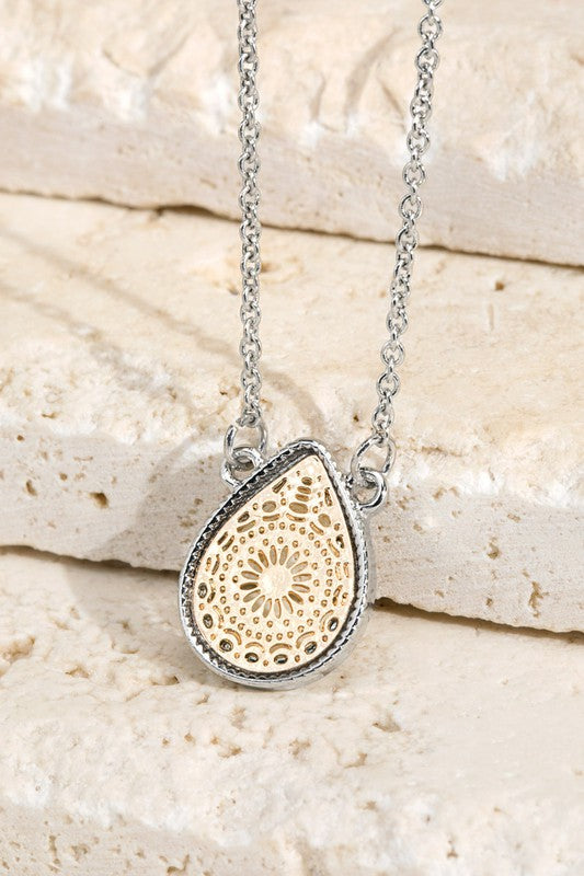 The Entwined Teardrop Filigree Mini Pendant Necklace