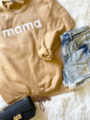 Hey Mama Cozy Light Copper Sweatshirt