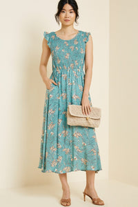 The Claire Floral Smock Pocket Dress