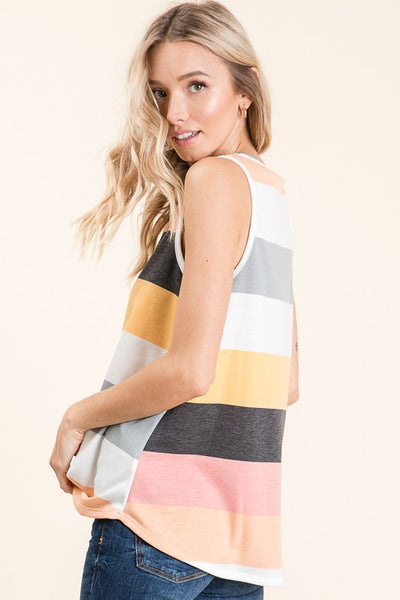 Sunny and Bright French Terry  Stripe Top