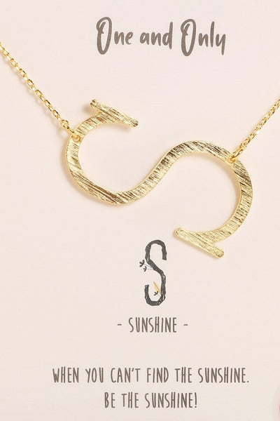 One and Only Initial Gold Necklace